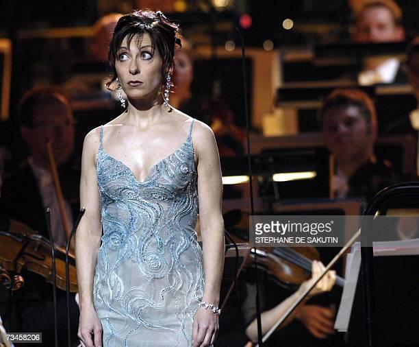 French lyric singer Nathalie Dessay performs during the 14th Victoires de la Musique classique awards ceremony 28 February 2007 in Paris' Salle...