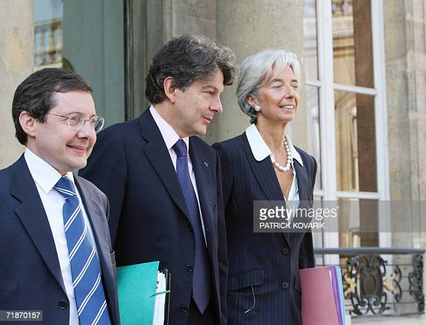 French Minister for Social Security the Elderly the Disabled and the Family Philippe Bas French Minister for the Economy Finance and Industry Thierry...