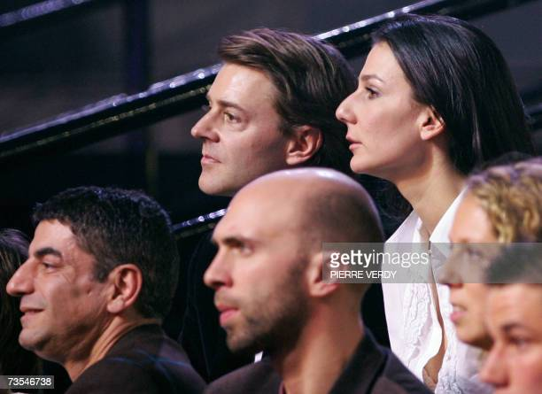French Overseas Minister Francois Baroin and his companion journalist Marie Drucker attend the 22nd Victoires de la Musique ceremony 10 March 2007 at...
