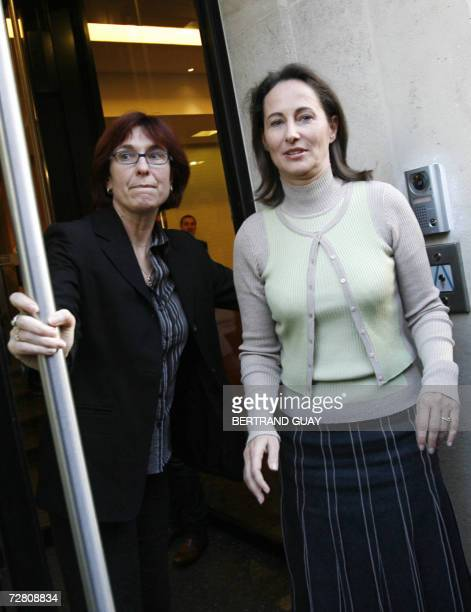 French socialist candidate in next year's presidential election Segolene Royal and her press attache Agnes Longueville wait for the upcoming of...