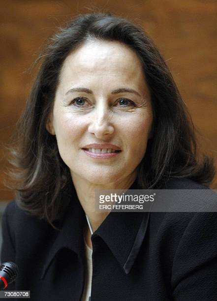 French Socialist presidential candidate Segolene Royal attends a joint press conference with Deputy Christiane Taubira 23 January 2007 at the French...