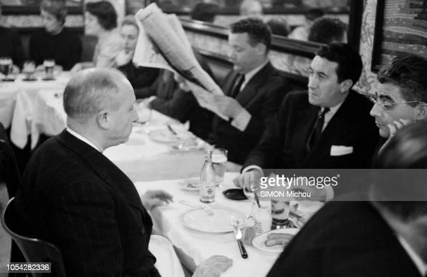 Paris, France, février 1955 --- Jeudi 3 février, entre minuit et deux heures du matin, alors que Mendès-France vient de poser à l'Assemblée la...
