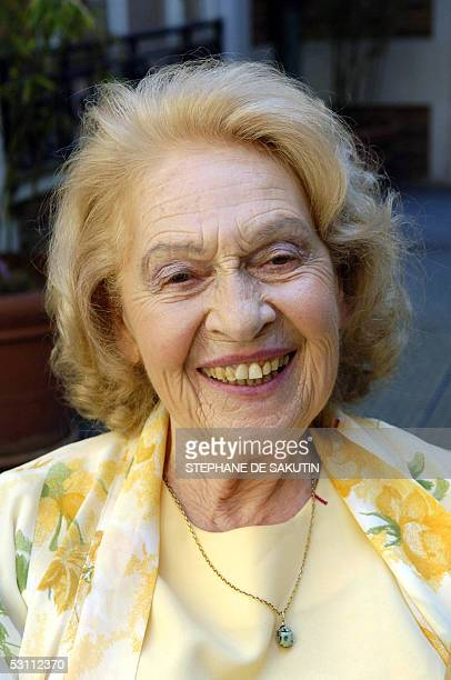 Genevieve Laporte 79yearsold poses at Hotel Dassault 21 June 2005 in Paris Laporte who had a twoyear secret affair with the 70yearsold painter...