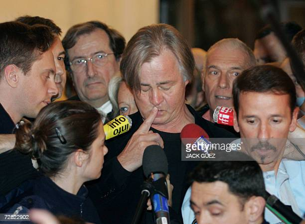 Guillaume Seznec's grandson Denis Le HerSeznec adresses the press 14 December 2006 in Paris after the French Court of Revision rejected the request...