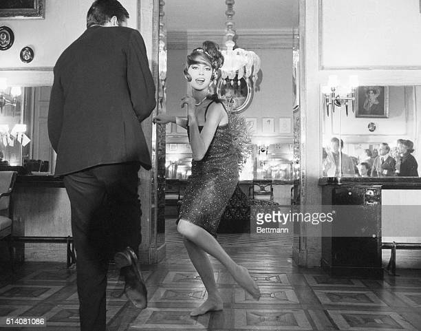 12/1/1961 Paris France In Paris It's 'Le Tweest' The latest American import is making quite a hit in Paris Here French cover girl Anne Marie dances...