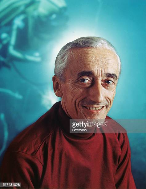 Jacques Cousteau French undersea explorer and oceanographer shown in 1971 photo
