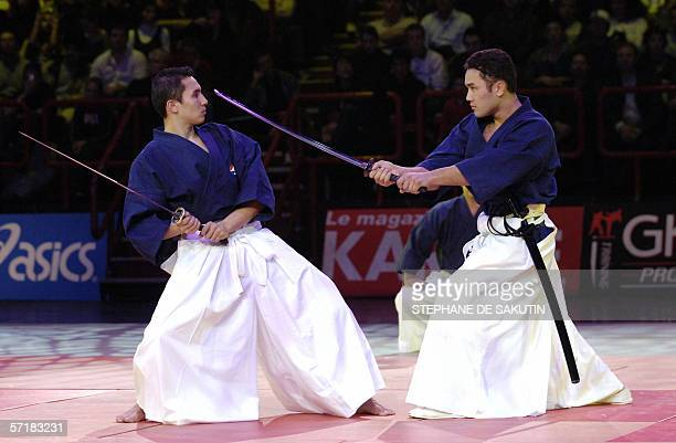 Kendo's masters perform during the 21st Martial arts festival at the Palais Omnisport de ParisBercy 25 March 2006 Shaolin monks are from China's...