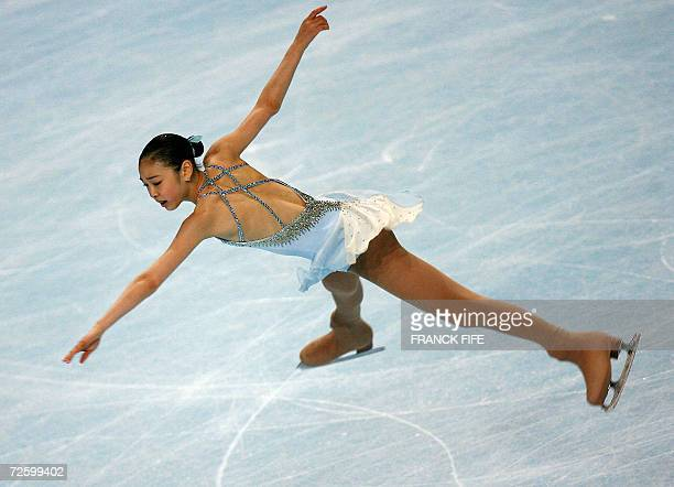 Kor YuNa Kim performs during Ladies Free Skating Dance program of the Trophee Bompard 18 November 2006 at the PalaisOmnisportsParisBercy in Paris AFP...