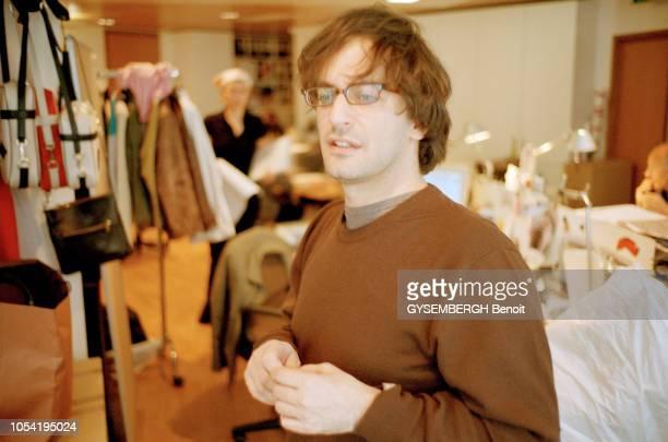 Paris France le 30 avril 2003 Rendezvous avec Marc JACOBS le directeur artistique de Louis Vuitton au showroom de la marque rue du PontNeuf Portrait...