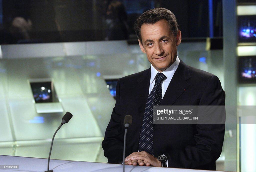 Le ministre de l\'Interieur Nicolas Sarko Pictures | Getty Images