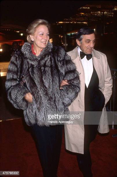Paris France Lino Ventura Italianborn French actor with his wife Odette Lecomte