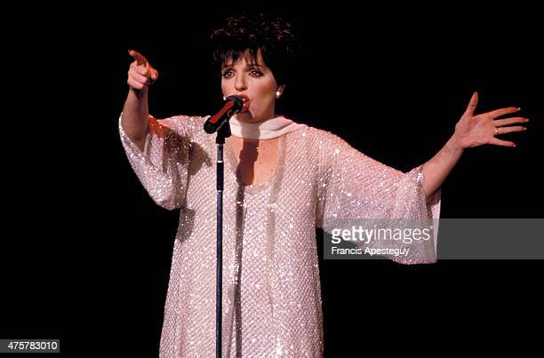 Paris France Liza Minnelli performing in Paris at the Lido