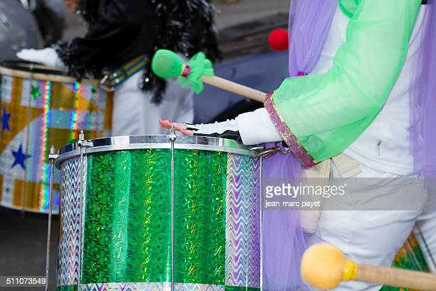 Paris France march 2 2014 17th edition of the Paris carnival The departure took place Gambetta for arrival Republic square Closeup on a Group of...