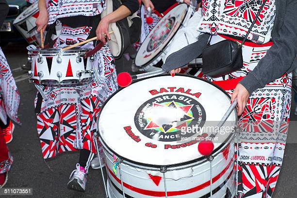 Paris France march 2 2014 17th edition of the Paris carnival The departure took place Gambetta for arrival Republic square in Paris Closeup on a...