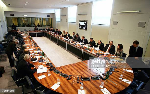 Members of FIA world council gather 26 July 2007 at the FIA headquarters in Paris to discuss the latest chapter of Formula One's espionage affair...