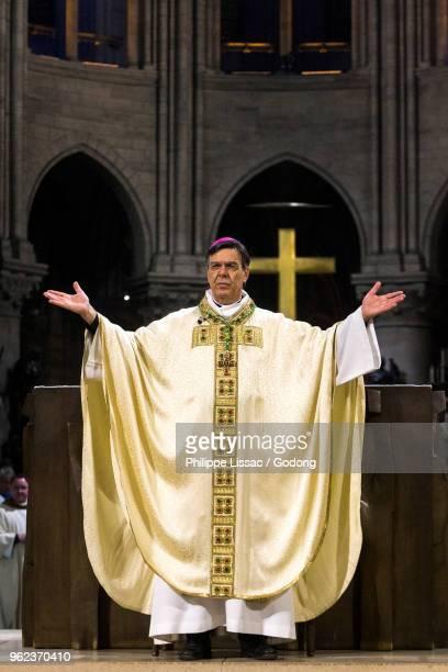 Paris, France. Michel Aupetits first mass as Paris archbishop at Notre Dame de Paris cathedral, France.