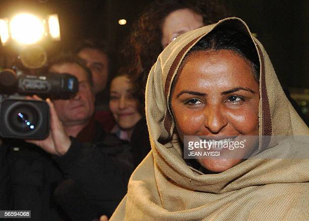 Mukhtar Mai a Pakistani woman raped on orders of a tribal court is seen upon her arrival at Roissy CharlesdeGaulle airport northern Paris 14 January...