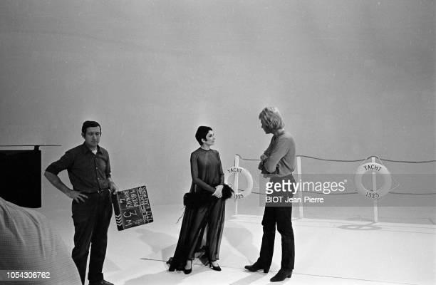 Paris France Octobre 1968 Tournage du show télévisé de Roland PETIT avec Zizi JEANMAIRE Marcel MARCEAU dit le mime Marceau et Johnny HALLYDAY Ici la...