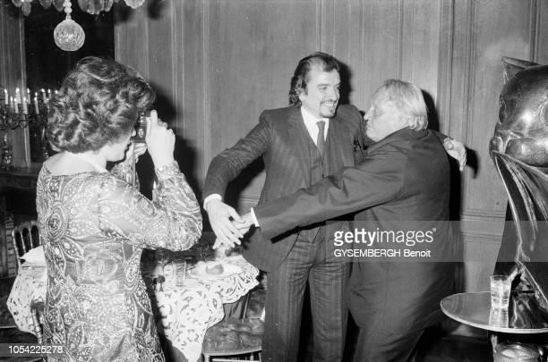 Paris France octobre 1979 Projection privée du film 'Don Giovanni' de Joseph LOSEY en présence du réalisateur et des chanteurs Ruggero RAIMONDI qui...