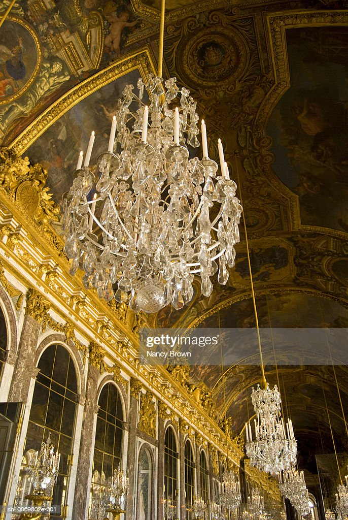 Paris France Palace Of Versailles Hall Of Mirrors Stock Photo