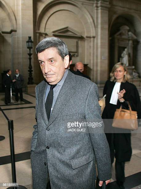 Pierre Cabanes former general secretary of French defence firm Thomson arrives in Paris tribunal 14 November 2005 before the beginning of the trial...