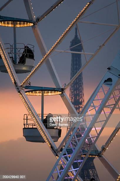 Paris, France, Place de la Concorde, ferris wheel and Eiffel Tower