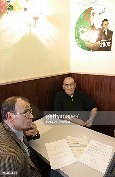 """Ramdani Mostefa , founder of the """" French-North African humanitarian and insertion association"""" , and Taied Djoudi, chairman of the Bouteflika French..."""