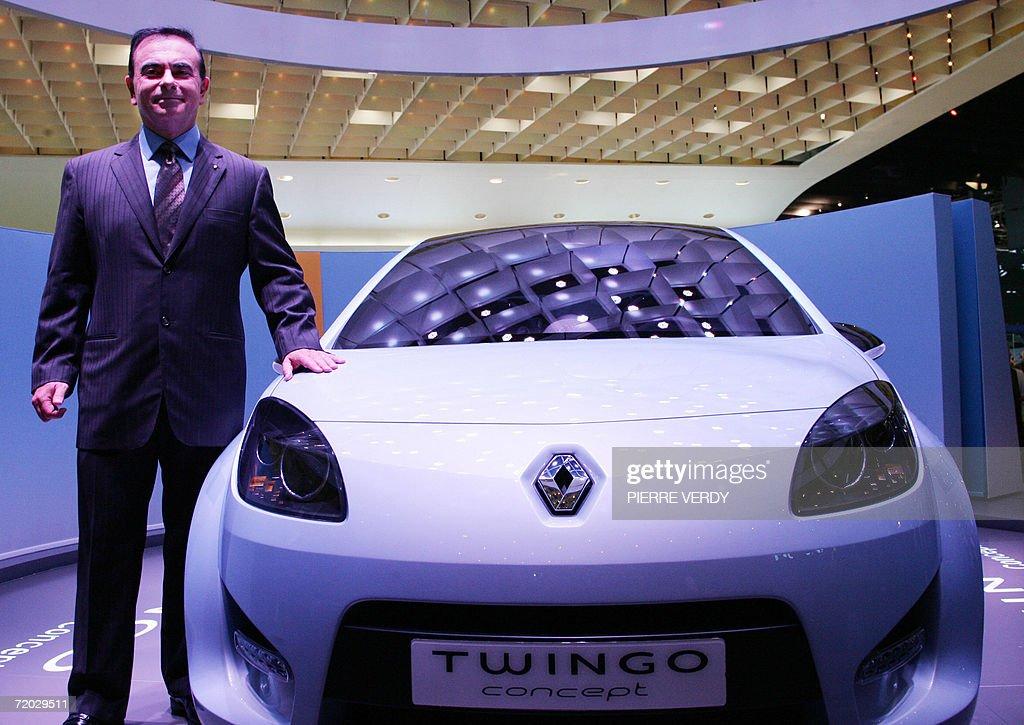 Renault Ceo Carlos Ghosn Renault Twingo Concept Car Is Presented