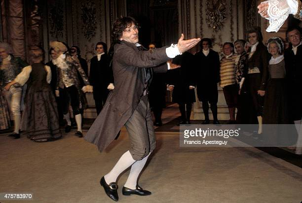 Paris France Roman Polanski in the play Amadeus that he also directed in 1981