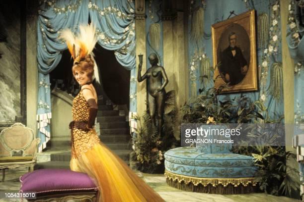 Paris France septembre 1966 Répétition de la pièce de théâtre 'Laurette' mise en scène par Pierre Fresnay au théâtre de la Michodière Décors et...