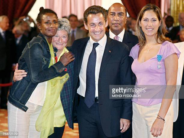 Somali model and James Bond girl Waris Dirie French Linda WeilCuriel French President Nicolas Sarkozy protocol chief of the Ivorian Presidency...