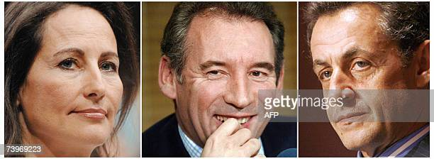 This combo picture made 25 April 2007 shows candidates for the second round of the 2007 French presidential election Socialist Segolene Royal and UMP...