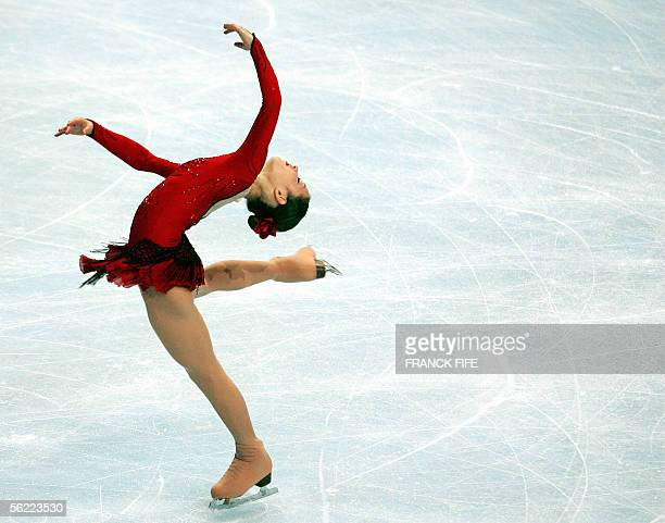 Us Sasha Cohen performs during the Ladies short program of the Trophee Bompard 18 November 2005 at the PalaisOmnisportsParisBercy in Paris AFP PHOTO...