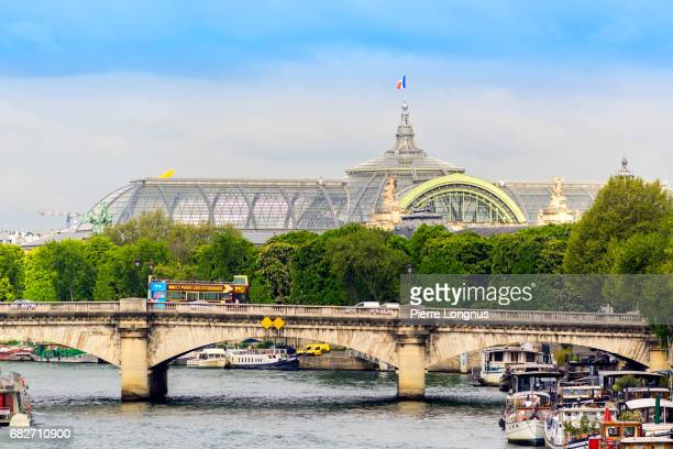 Paris - France : View of the Concorde Bridge with the Grand Palais in the Background