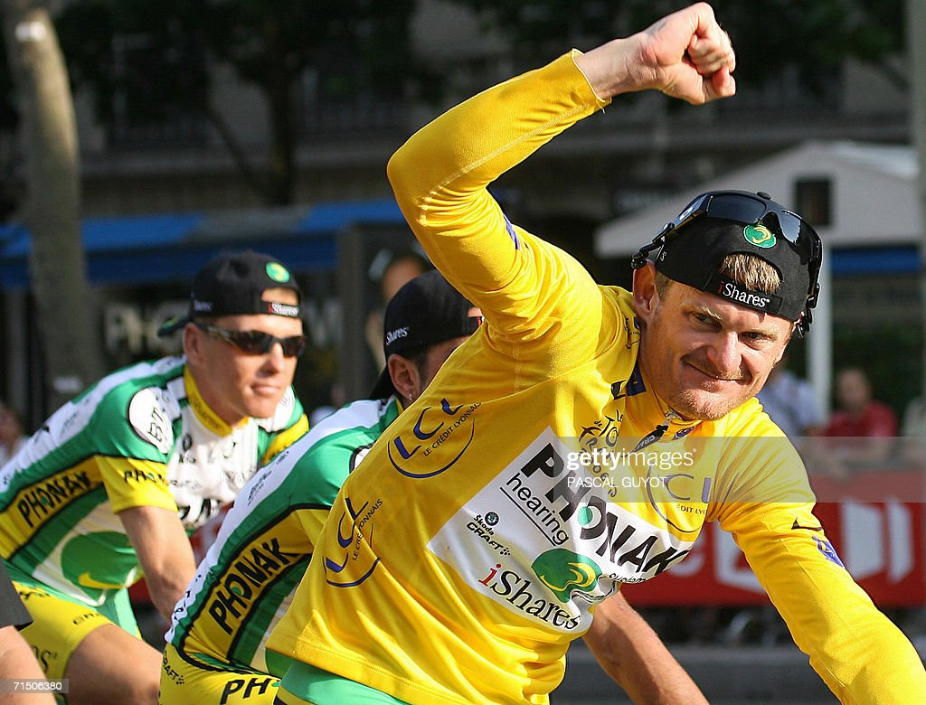 Yellow jersey USA's Floyd Landis (Phonak : News Photo