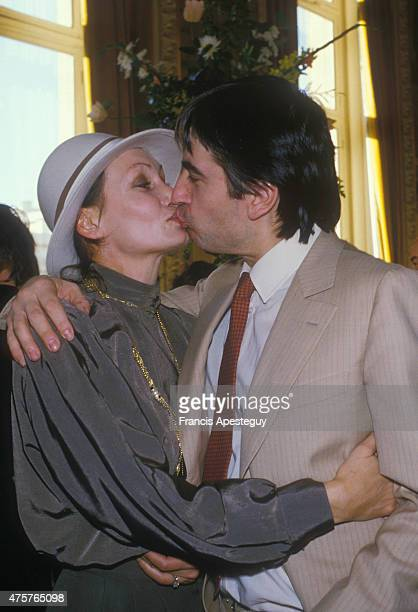 Paris FranceFrench singer Serge Lama with his wife