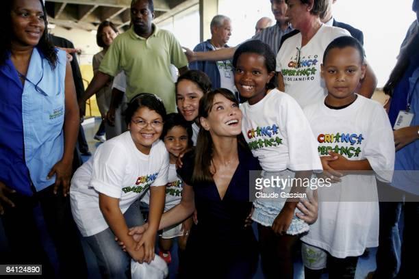 France's First Lady Carla Sarkozy visits Brazil on December 23 2008