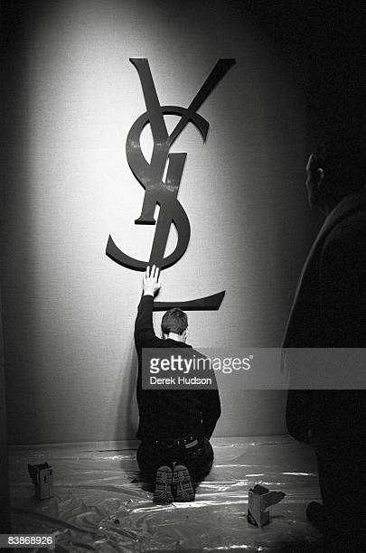 French stylist Yves Saint Laurent poses at a portrait session in Paris on May 13 1998