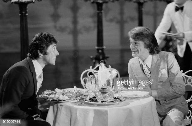 french singers Sacha Distel and Claude François on the set of the french tv show Sacha Show 18th February 1971