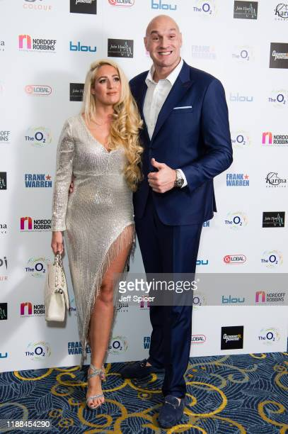 Paris Fury and Tyson Fury attend the Nordoff Robbins Boxing Dinner 2019 on November 18, 2019 in London, England.