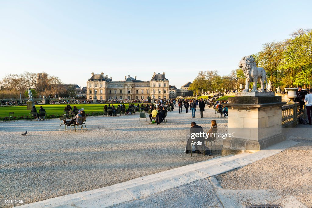 gardens of the Luxembourg Palace, home to the French Senate, in the 6th arrondissement (district).