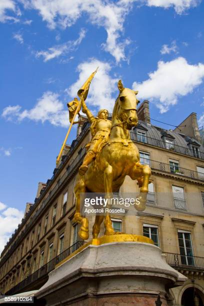 Paris, Golden statue of Joan of Arc on horseback, Place des Pyramides