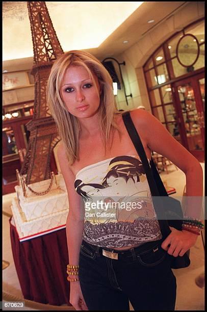 Paris Hilton a year older than screen legend Elizabeth Taylor when Elizabeth married Paris'' grandfather Conrad Nicky Hilton Jr poses in Las Vegas...