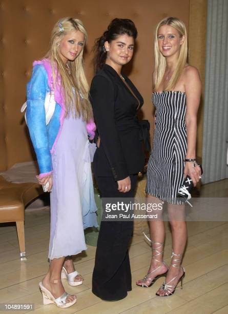 Paris Hilton Aimee Osbourne Nicky Hilton during PreOscar Bash To Celebrate LA Confidential's Oscar/Spring Fashion Issue at Skybar at the Mondrian in...