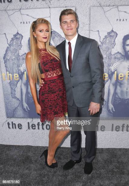 Paris Hilton and actor Chris Zylka attend the premiere of HBO's 'The Leftovers' Season 3 at Avalon Hollywood on April 4 2017 in Los Angeles California