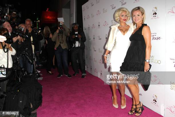 Paris Hilton and Amanda Holden attend Paris Hilton Embodies Icon Marilyn Monroe To Celebrate Her Fragrance Launch TEASE at MyStudio on August 10 2010...