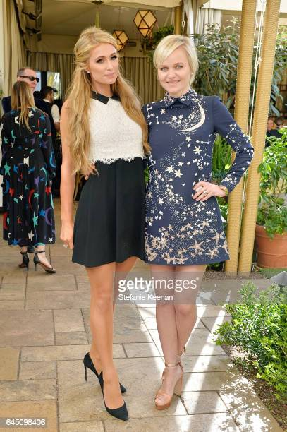 Paris Hilton and Barbara Sturm attend NETAPORTER and Dr Barbara Sturm Host PreOscars Lunch in Los Angeles at Chateau Marmont on February 24 2017 in...