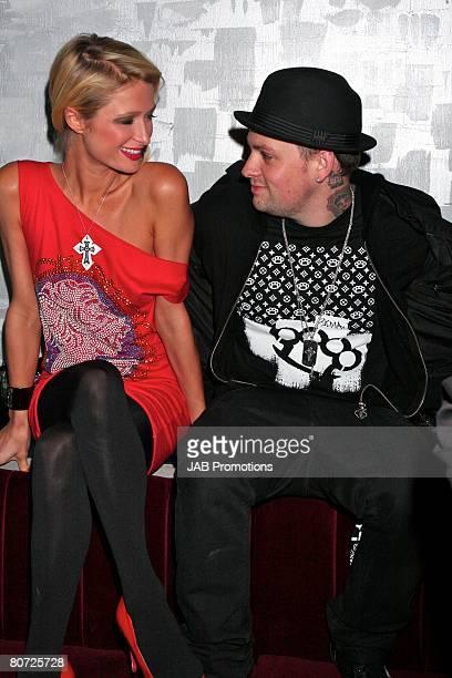 Paris Hilton and Benji Madden at Crystal Nightclub on April 15, 2008 in London, England.