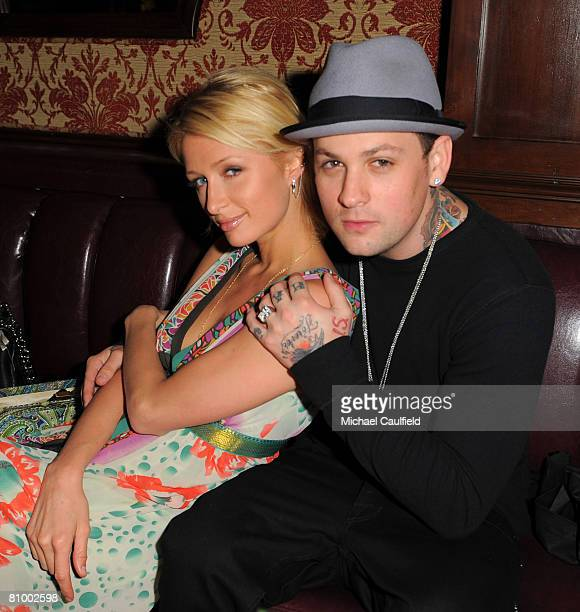 Paris Hilton and Benji Madden attend Hornitos' Cinco de Mayo party at Crown Bar on May 5, 2008 in Hollywood, California.
