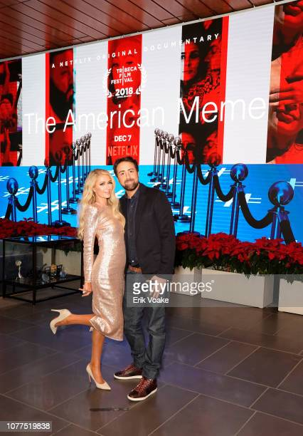 Paris Hilton and Bert Marcus attend The American Meme special screening on December 04 2018 in Los Angeles California